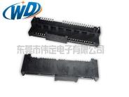 7+15 SATA 连接器贴片式带鱼叉定位柱