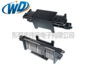 180度立式SATA连接器 垂直插入式  HDD接口贴片式