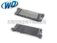 180度立式SMT SATA硬盘数据传输接口7+15 22PIN 带定位柱