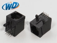 8P8C带边RJ45网线插口 扁针插件型网口