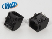 8P8C 带边RJ45网线插口  8针网络接插件