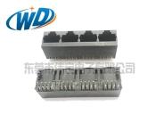 1X4 立式四联体RJ45网络接口 180度插四胞网络插座