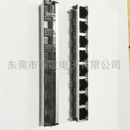 56 1x8全塑带灯RJ45网络接口 8口带LED灯网络插座