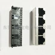 52 1x4 四口RJ45网络插座带屏蔽