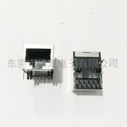 杭州59 单口屏蔽RJ45网络母座8针 脚前