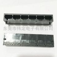 合肥59 1X6全塑 RJ45连接器 6口网络接口