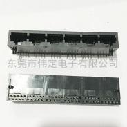 南京59 1X6全塑 RJ45连接器 6口网络接口