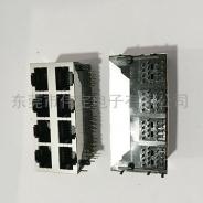 北京59 2X4双排8口带屏蔽壳RJ45网络插口