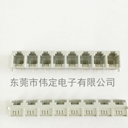 北京5521 1X8 rj11 6P2C 可拼接灰色8口话接口