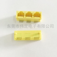 天津5631 1X3 RJ45全塑黄色 8P8C 三口网络接口