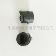 南京线材专用RJ45连接器带单LED灯 成型网络接口