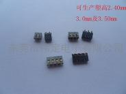 2.50mm  PH 立式2PIN 3PIN 4PIN弹片电池座连接器