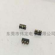 3.0间距 3PIN电池连接器 内焊弹片触片电池座