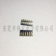 2.0mm间距 6PIN弹片电池连接器 6P正压电池座